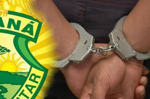Homem com Mandado de Prisão em aberto é flagrado por policiais militares no litoral do PR consumindo maconha e tiner