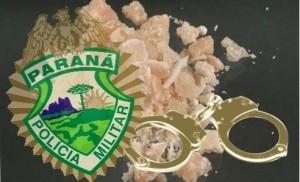 PM apreende pedras de crack em Guaratuba